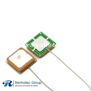 Internal Ceramic GPS Antenna 25*25*4mm with RF 1.13 Cable