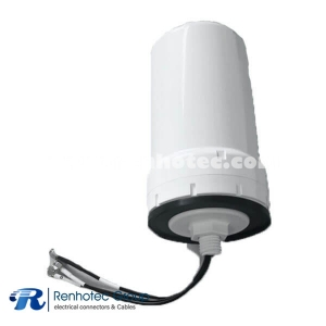 Combo Antenna GSP GSM GNSS Mimo Outdoor Screw Mount White Antenna