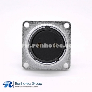 P20-2Pin Female Straight Socket Square 4 holes Flange Mounting Solder Cup for Cable