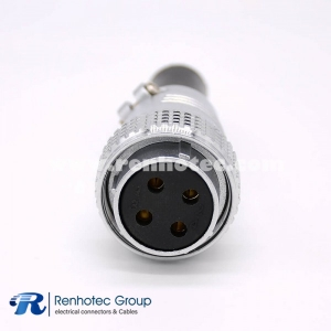 Connector P28 4 Pin Female Plug Straight for Cable