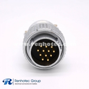 12 Pin Connector Male Plug P28  Straight Solder Cup for Cable