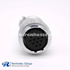 Connector 12 Pin P28 Female Plug Straight Solder Cup for Cable