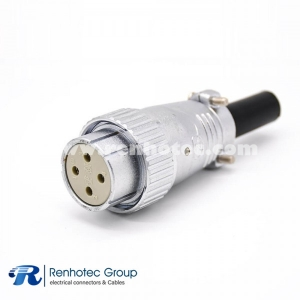 4 Pin Female Plug P32 Straight Solder Cable Plug