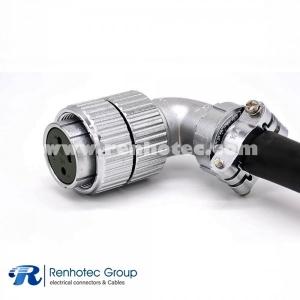 Female plug P32 4 Pin Right Angle Solder Cable Plug