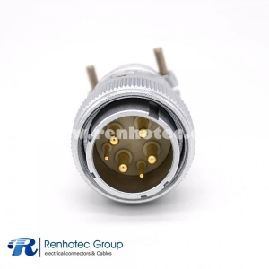 6 Pin Connector P32 Male Plug Straight Solder Cup for Cable