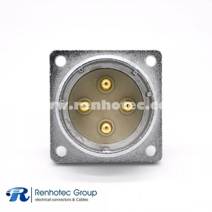 Male Socket P48 4 Pin  Straight Panel Mount  Receptacles