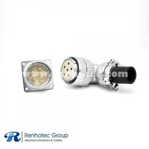 Male Female Socket Plug P48 6 Pin Ringht Angle Plug Straight Receptacles