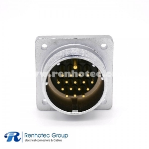 Male Receptacles P48 17 Pin 4 Hole  Flange Connector