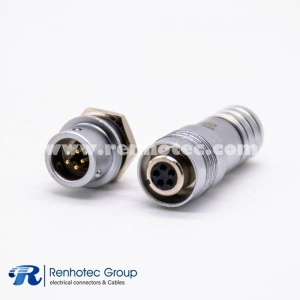 XS6 5Pin Aviation Connector Female Plug &Male Socket Back Mount