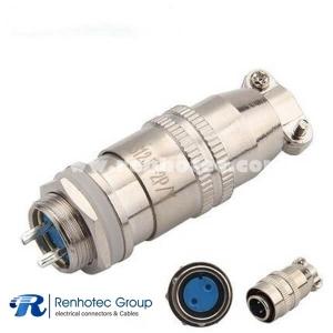XS12 Circular Micro Connector Male Plug Female Socket Reverse Type