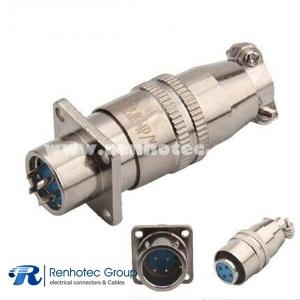 Waterproof XS12 4 Holes Flange 4Pin Female Plug &Male Socket Connector