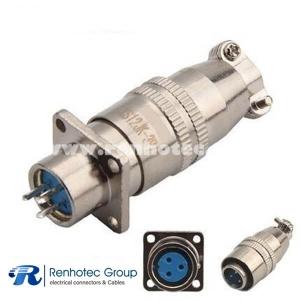 XS12 Circular Metal Connector 3Pin Male Plug & Female Socket 4 Holes Flange
