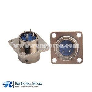Circular Connector 4Pin XS16 Male Socket  4 Hole Flange Panel Mount