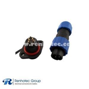 SP13 Waterproof Aviation Connector 2Pin IP68 Male Plug&Female Receptacles