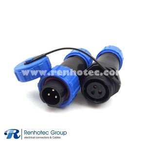 SP13 IP68 3pin Male Plug and Docking Socket Dustproof Circular In-line Cable Connector