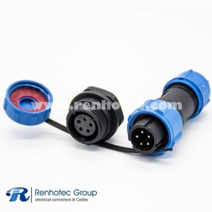 5 Pin Connector Waterproof SP13 Male Plug Female Receptacles Bulkhead for Cable Panel Mount