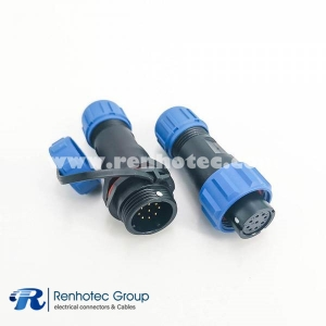 9 Pin Waterproof Connector SP13 Female Plug Male Socket one pair With Waterproof Cover