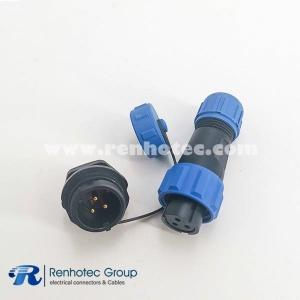 SP13 Series IP68 3pin Female Plug & Male Socket Rear-nut Mount