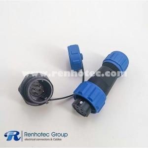 4pin SP13 Serie Female Plug & Male Socket Rear-nut Mount