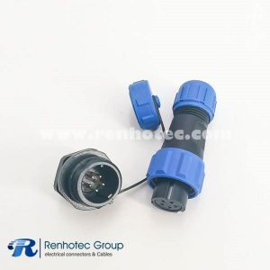 IP68 SP13 Series 5 pin Female Plug & Male Socket Rear-nut Mount Automatic Connector