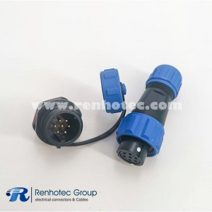Connector SP13 Series IP68 Female Plug&Male Receptacles 7Pin Rear-nut Mount