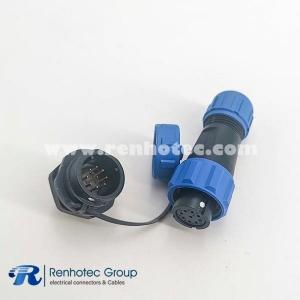 SP13 ip68 Female Plug & Male Socket 9pin Rear-nut Mount Plastic Connector