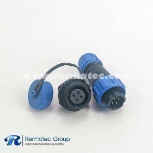 IP68 Connectors Waterproof SP13 Series Male Plug & Female Socket 4pin Panel Rear-nut Mount