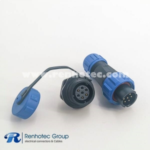 Waterproof electrical Male Plug&Female Receptacles 7pin Panel Mount SP13 Series Rear-nut Mount