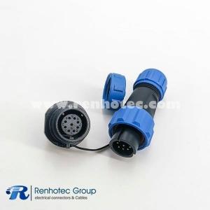 weipu SP13 Series Waterproof Male Plug & Female Socket 9 pin Panel back Mount Circular Connector