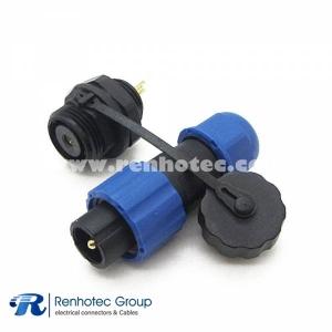 weipu connector sp13 Male Plug & Female Socket IP68 1pin in Rear-nut Mount