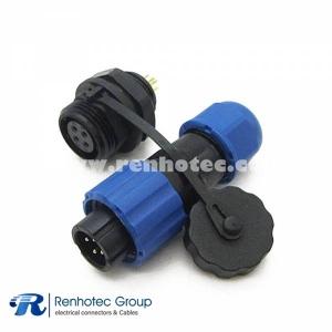 Aviation connector SP13 4pin Male Plug & Female Socket Rear-nut Mount