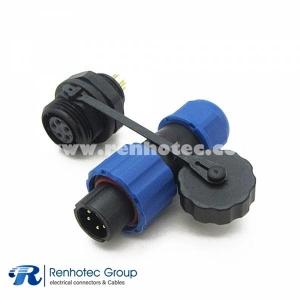 SP13 Connector 5pin Male Plug & Female Socket Rear-nut Mount