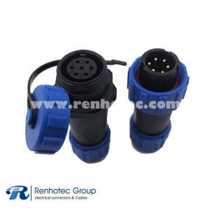Waterproof Cable Connector IP68 SP17 Butt-Joint type 7Pin Male Plug&Female Receptacles