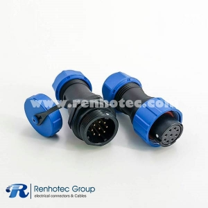 SP17 Connector Series 9 pin Female Plug & Male Socket In-line Waterproof butt Connectors