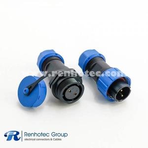 SP17 Series 2pin Male Plug & Female Socket In-line one pair Waterproof butt Connectors