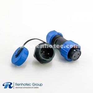 IP68 SP17 Series 2pin Female Plug & Male Circular Socket Waterproof Connectors