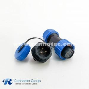SP17 Series 3pin Female Plug & Male Circular Socket Rear-nut Mount