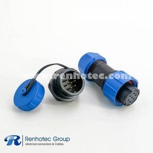 Waterproof SP17 Series 7pin Female Plug & Male Socket Back Mount