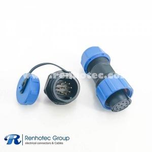 weipu 9 pin SP17 Series Female Plug & Male Socket Rear-nut Mount