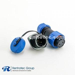 SP17 Series 2pin Female Plug & Male Socket 2 Hole Flange Panel Mount IP68