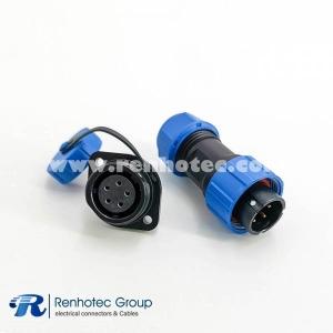 Weipu SP17 Series 7pin Male Plug&Female Socket 2 Hole Flange Panel Mount Waterproof Dustproof