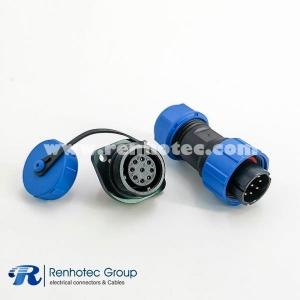 Waterproof SP17 Series 9 pin Male Plug & Female Socket 2 Hole Flange Panel Mount Connectors