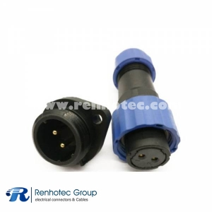 SP17 Female Plug & Male Socket 2 Hole Flange panel mount SP17 2pin Connector