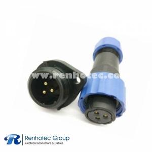 SP17 Female Plug & Male Socket 2 Hole Flange panel mount SP17 3pin Connector
