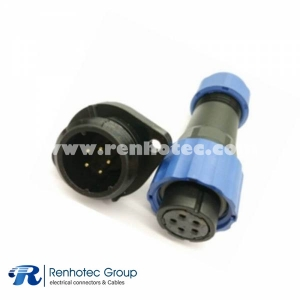 weipu straight SP17 Female Plug & Male Socket 2 Hole Flange panel mount SP17 5pin Connector