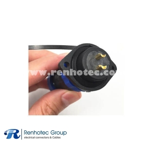 5 Pin Waterproof Connector 21MM Panel Mount Hole Socket and Straight Plug Thread Connector