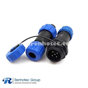 5 Pin Waterproof Connector SP21 Reverse Type In-line Female Plug&Male Receptacles