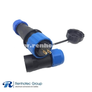 IP68 Aviation In-line Cable Connector SP21 6Pin Male&Female Solder Contact
