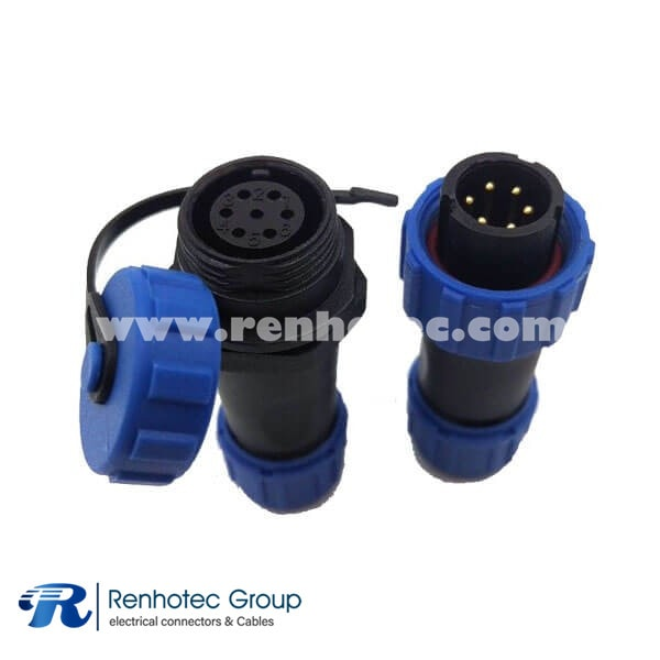 Threaded Coupling Cable Connector SP21 Series 7Pin Aviation Male Plug&Female Receptacles