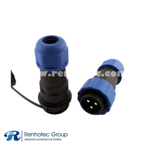 Waterproof Aviation Connector SP21 9 Pin In-Line Docking Male Plug&Female Receptacles Connector